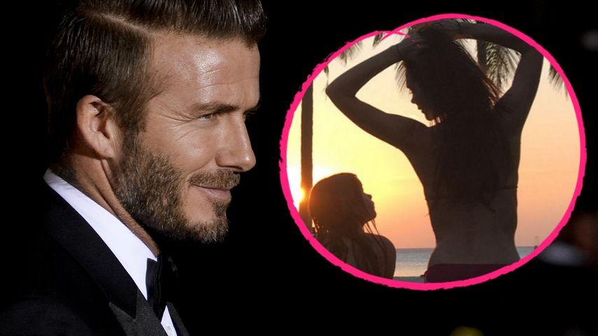David Beckham: Intimer Moment mit Victoria & Tochter Harper