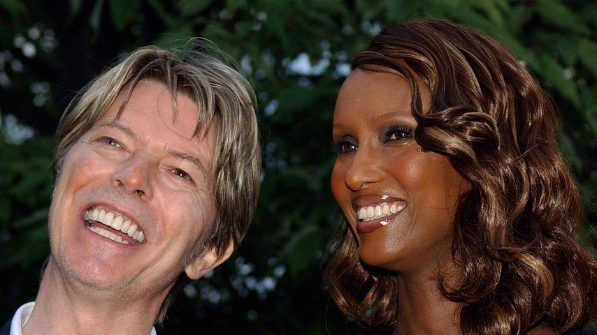 David Bowie und Iman, 2002 in London