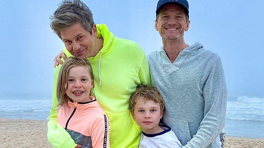 David Burtka, Neil Patrick Harris und ihre Kinder