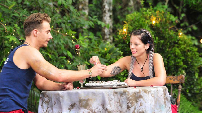 David Friedrich und Jennifer Frankhauser im Dschungelcamp an Tag 12