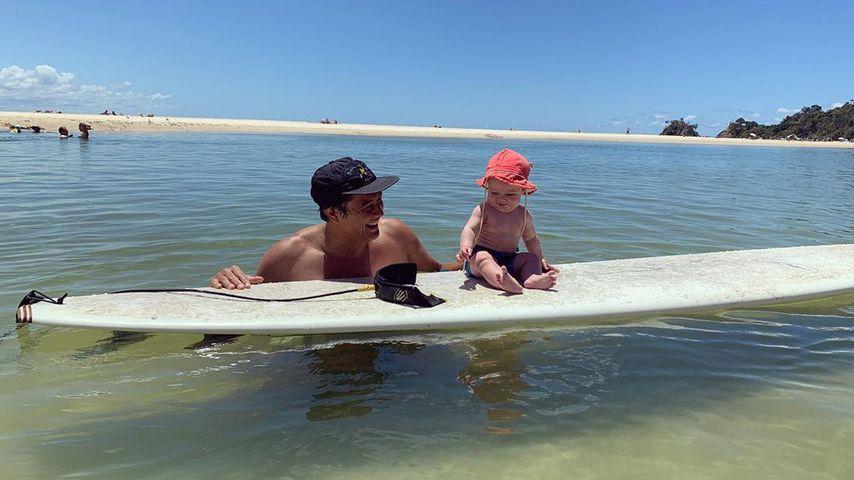 David Letts mit seinem Baby