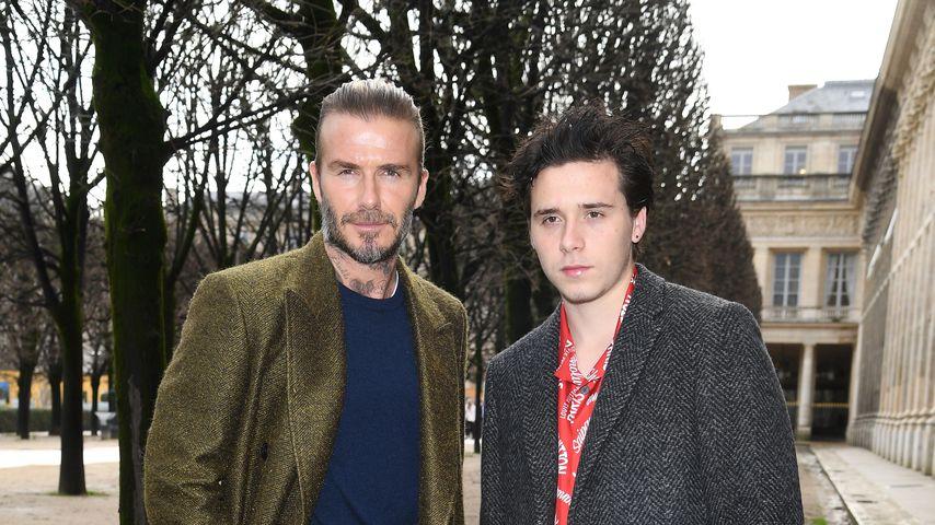 David Beckham und sein Sohn Brooklyn, 2018