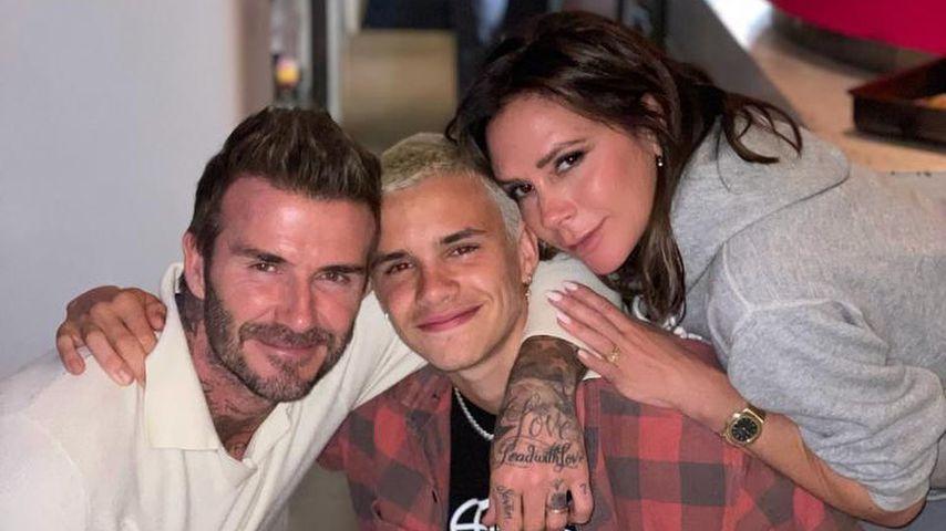 David und Victoria Beckham mit ihrem Sohn Romeo
