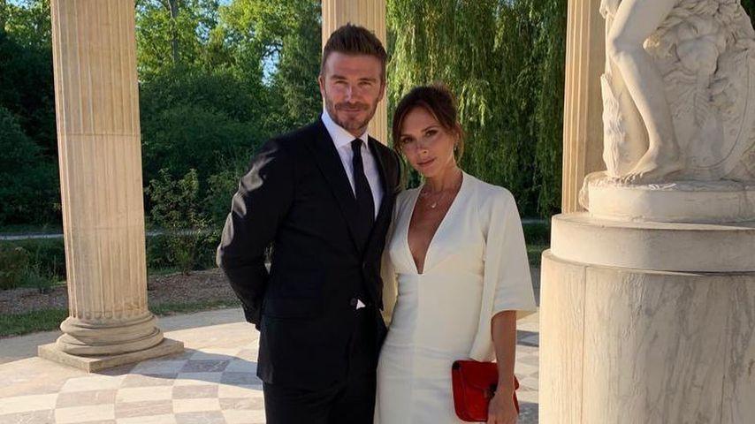 David und Victoria Beckham am Schloss Versailles