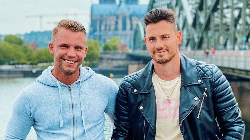 """David Zickert und Max Schnabel, ehemalige """"Temptation Island""""-Kandidaten"""