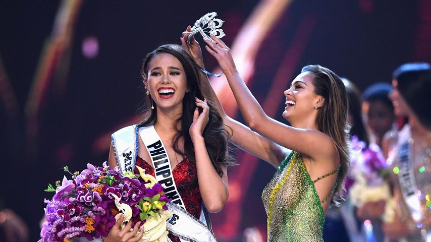 Catriona Gray (Miss Universe 2018) und Demi-Leigh Nel-Peters (Miss Universe 2017)