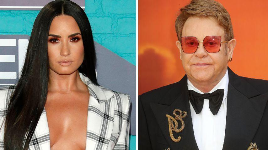 Demi nach Überdosis nicht clean: Elton John sieht's kritisch