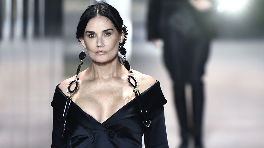 Schauspielerin Demi Moore auf der Paris Fashion Week 2021