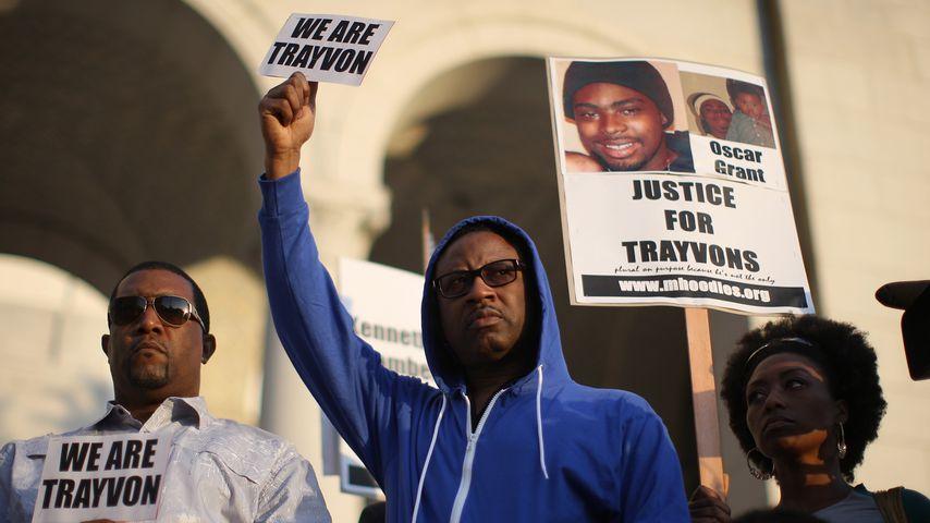 Demonstranten bei einer Veranstaltung für Trayon Martin, Los Angeles 2012