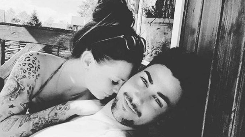 Ganz verliebt: Denise Temlitz und Patrick Cuninka