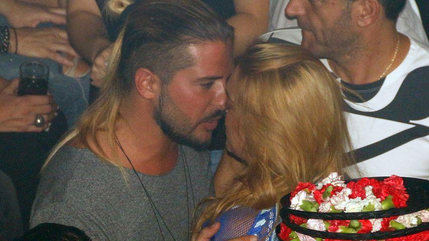 Dennis Papageorgiou und Lindsay Lohan