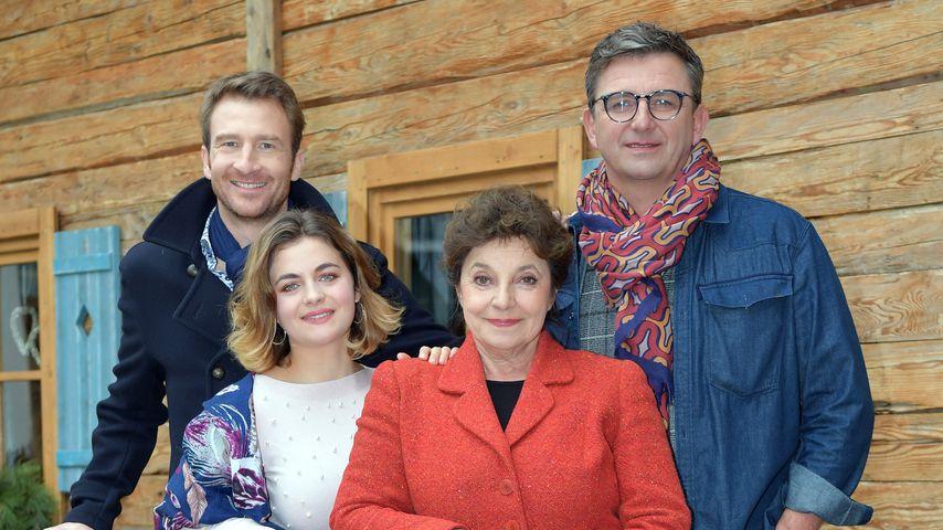 """Der Bergdoktor""-Cast: Heiko Ruprecht, Ronja Forcher, Monika Baumgartner und Hans Sigl, 2017"