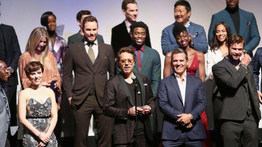 """Der Cast von """"Anvengers: Infinity War"""" bei der Weltpremiere des Films in Hollywood im April 2018"""