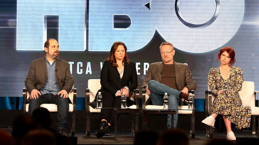 """Craig Mazin, Emily Watson, Jared Harris und Jessi Buckley aus der Serie """"Chernobyl"""""""