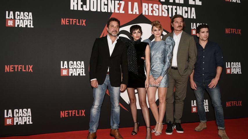 """Der Cast von """"Haus des Geldes"""" im Juli 2019 in Madrid"""