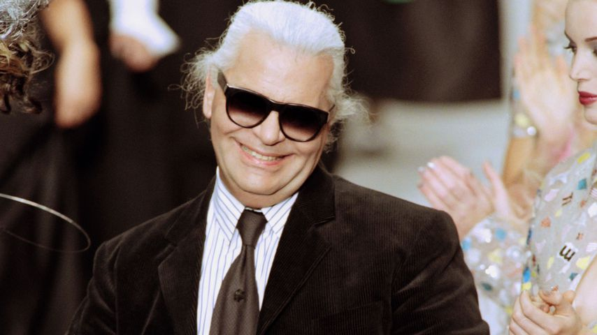 Modedesigner Karl Lagerfeld in Paris 1995