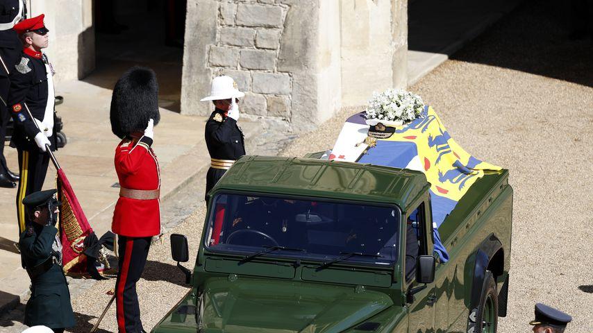 Der Sarg von Prinz Philip in Windsor Castle