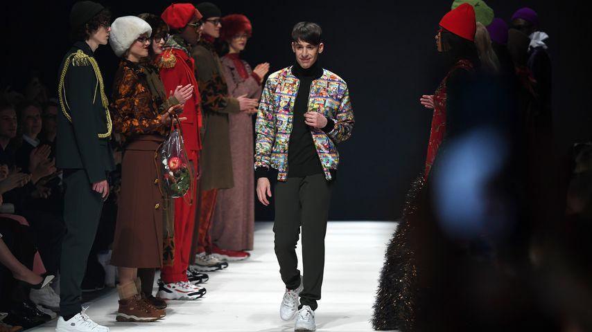 Designer Kilian Kerner bei seiner Show auf der Fashion Week Berlin 2020
