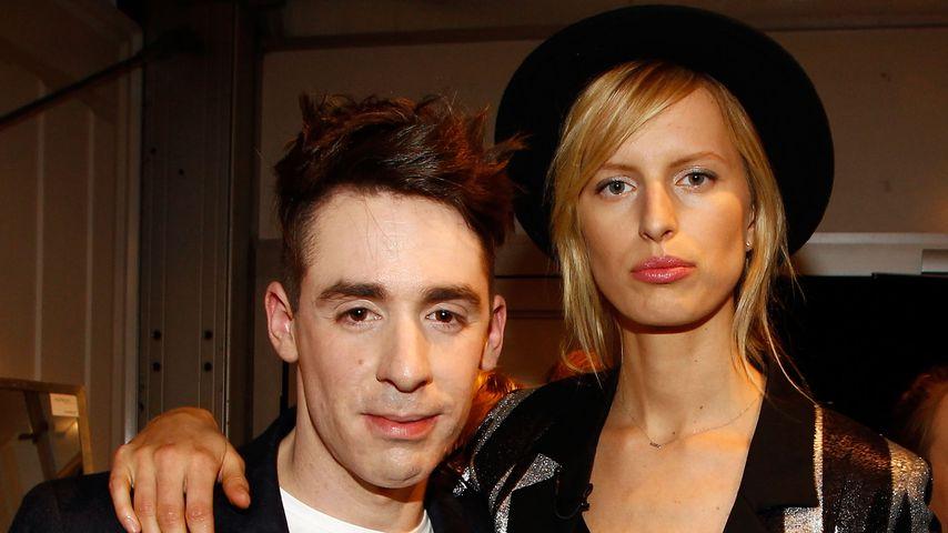 Designer Kilian Kerner und Model Karolina Kurkova bei der Fashion Week Berlin 2012