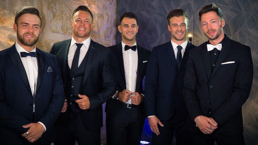 Die Bachelorette-Boys Andreas, Daniel, Serkan, Alex und Keno
