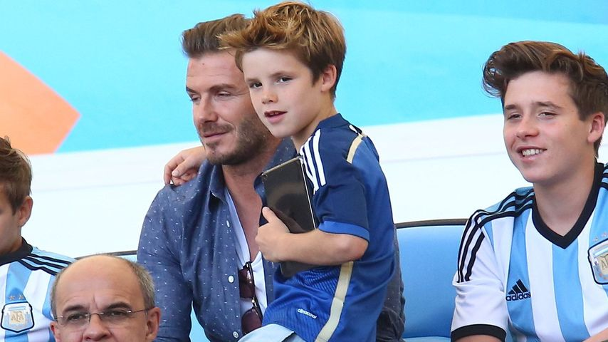 David Beckham, Brooklyn Beckham, Romeo Beckham und Cruz Beckham