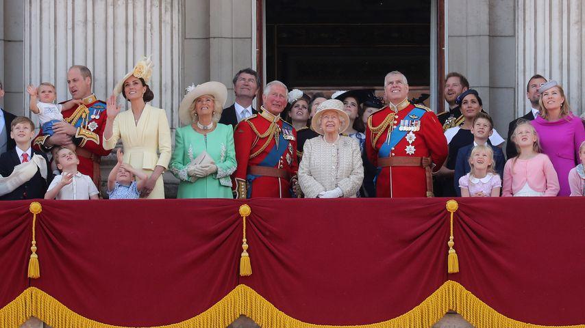 Die britische Königsfamilie bei der Trooping the Colour-Parade 2019