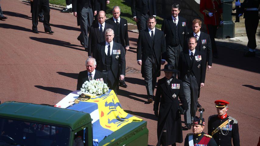 Die britischen Royals bei Prinz Philips Beisetzung