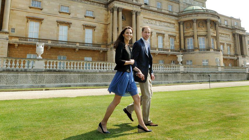 Die britischen Royals Herzogin Kate und Prinz William im April 2011 in London