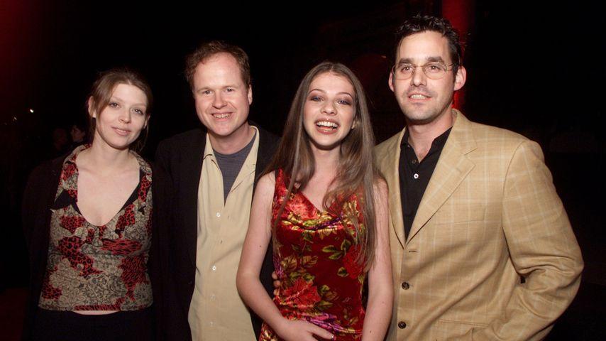 Amber Benson, Joss Whedon, Michelle Trachtenberg und Nicholas Brendon, 2001