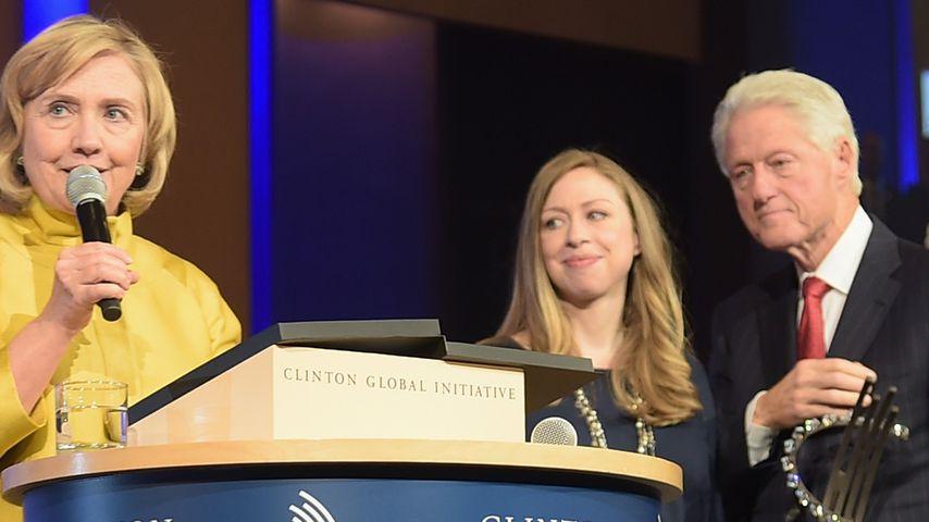 Hillary Clinton, Chelsea Clinton und Bill Clinton