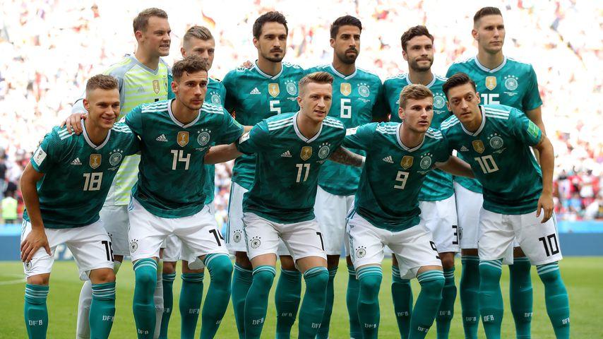 Die Deutsche Nationalmannschaft vor dem WM-Spiel gegen Südkorea