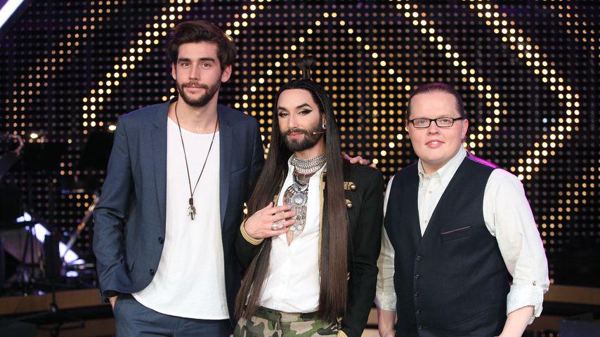 """Die """"It takes 2""""-Jury: Àlvaro Soler, Conchita Wurst und Angelo Kelly"""