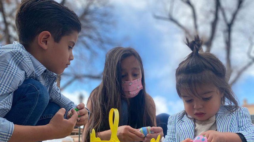 Die Kinder von Mario Lopez: (v.l.n.r) Dominic, Gia, und Santino