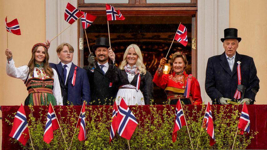 Die königliche Familie Norwegens am Nationalfeiertag 2021