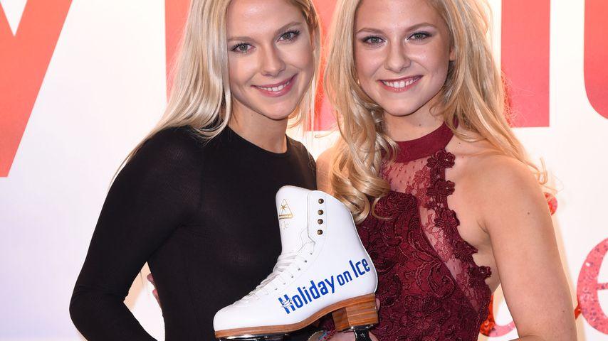 """Die Pahde-Zwillinge bei der Premiere der """"Holiday on Ice""""-Show """"Believe"""""""