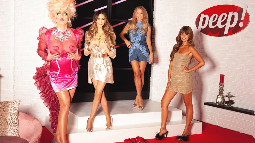 """Olivia Jones, Dolly Buster, Jenny Elvers und Bonnie Strange in der """"Peep!""""-Jubiläumsausgabe"""