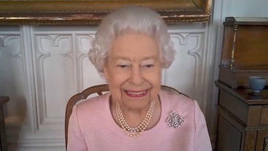 Die Queen bei einem Videocall mit australischen Politikern und einem Bildhauer