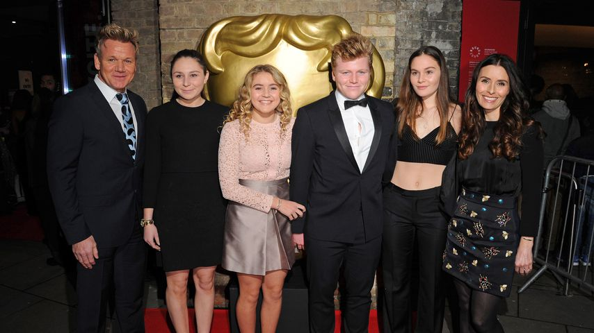 Gordon, Megan, Matilda, Jack, Holly und Tana Ramsay bei den BAFTA Children's Awards