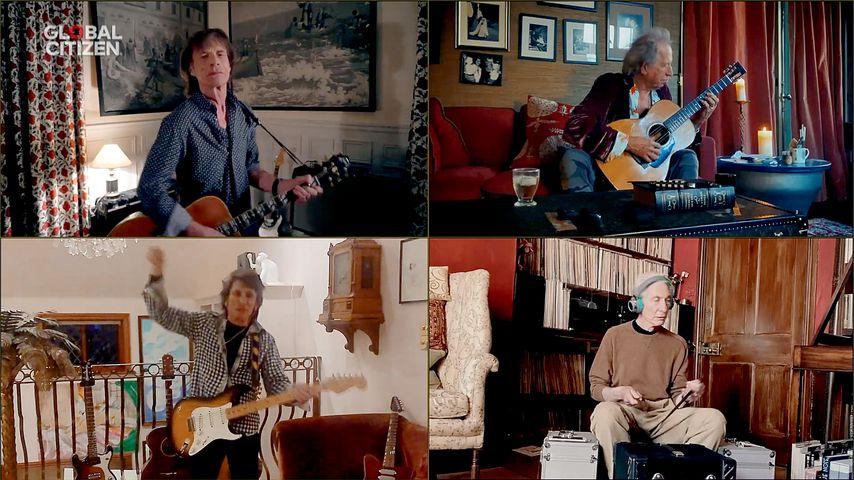 """Die Rolling Stones beim """"One World: Together At Home""""-Benefiz-Konzert"""