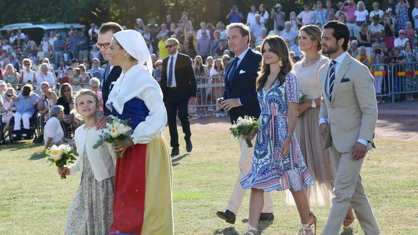 Die schwedische Königsfamilie an Prinzessin Victorias 42. Geburtstag