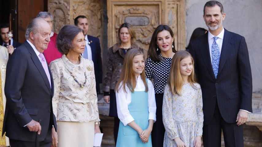 Die spanische Königsfamilie vor der Ostermesse 2018