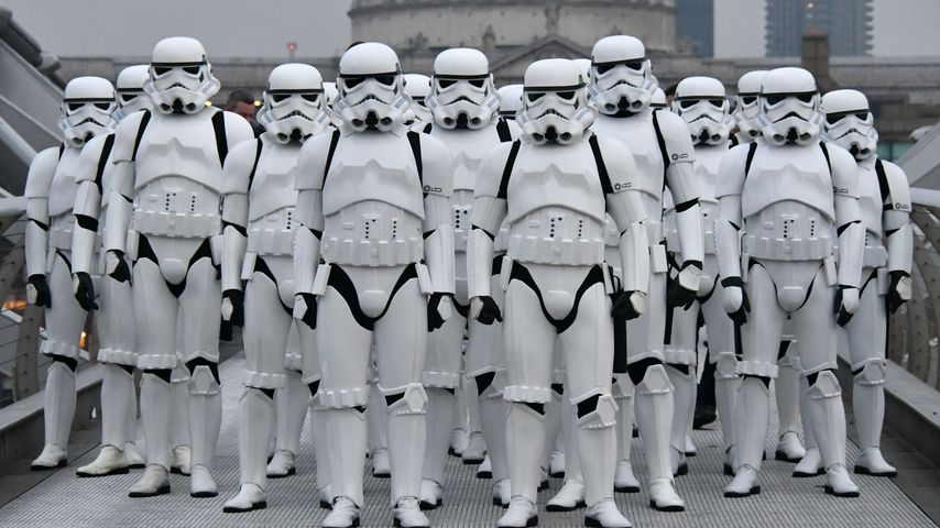 """Stormtroopers aus """"Rogue One: A Star Wars Story"""" 2016 in London"""