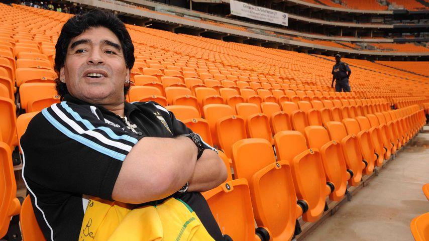 Diego Maradona in Südafrika im Januar 2010