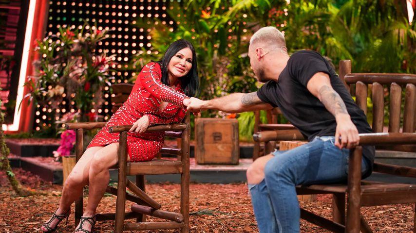 Djamila Rowe und Filip Pavlovic im Dschungelshow-Finale