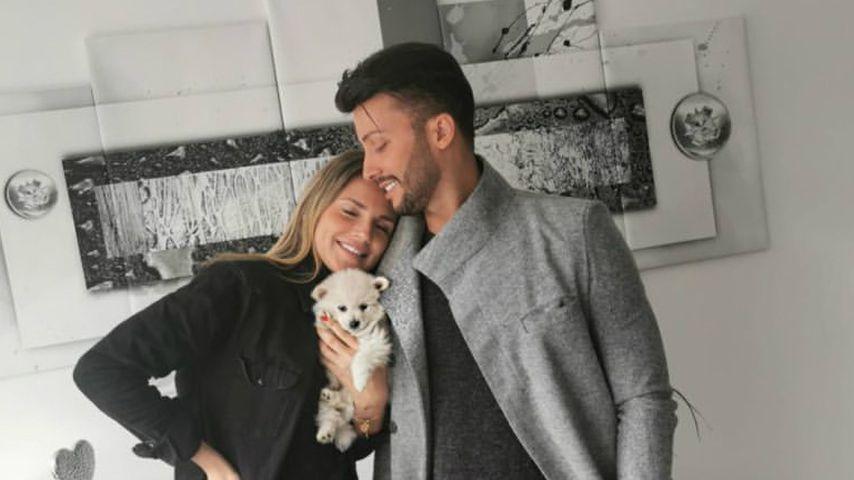 Domenico De Cicco und Freundin Julia mir ihrem Hund