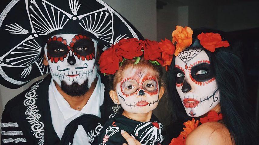 Gruselig! Sarah, Domi und Mia werden zu mexikanischen Toten