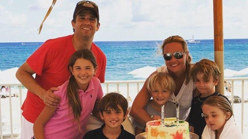 Donald Trump jr., seine Frau Vanessa Trump und ihre Kinder