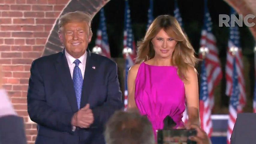Donald und Melania Trump, August 2020