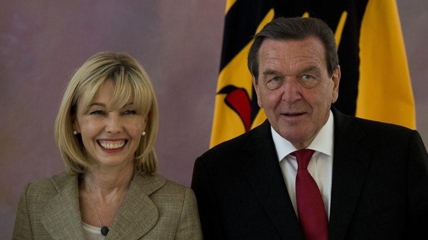 Doris Schröder-Köpf und Gerhard Schröder im Schloss Bellevue