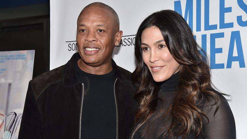 """Dr. Dre und Nicole Young bei der Premiere von """"Miles Ahead"""""""